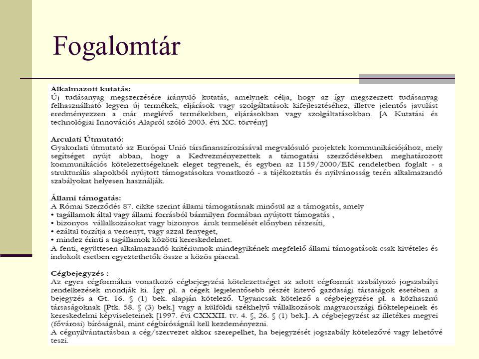 Fogalomtár: GVOP-2005-3.3.1. alapján
