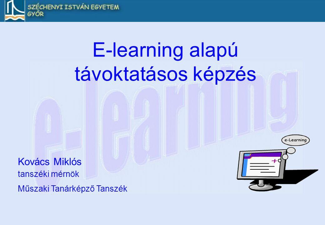 E-learning: a tanulás új útja E-learningHagyományos képzés az oktatás régi modelljeaz oktatás új modellje