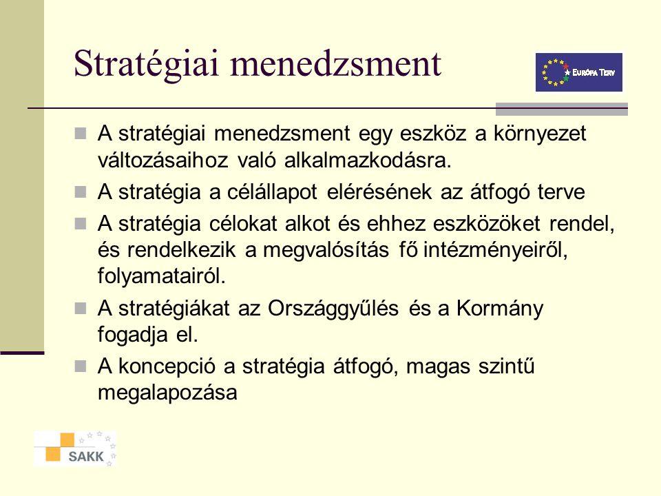 Evolutív vs. jövőkép-vezérelt stratégia Evolutív stratégia - bázisalapú tervezés - inkrementális haladás - kockázatkerülés - hagyományos tervezési sze