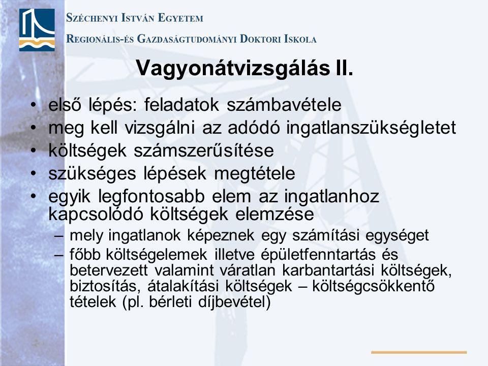 Vagyonátvizsgálás II.