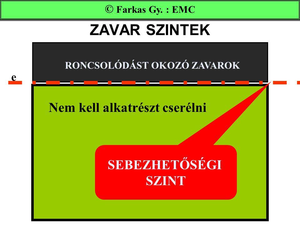ZAVAR SZINTEK SEBEZHETŐSÉGI SZINT RONCSOLÓDÁST OKOZÓ ZAVAROK © Farkas Gy.