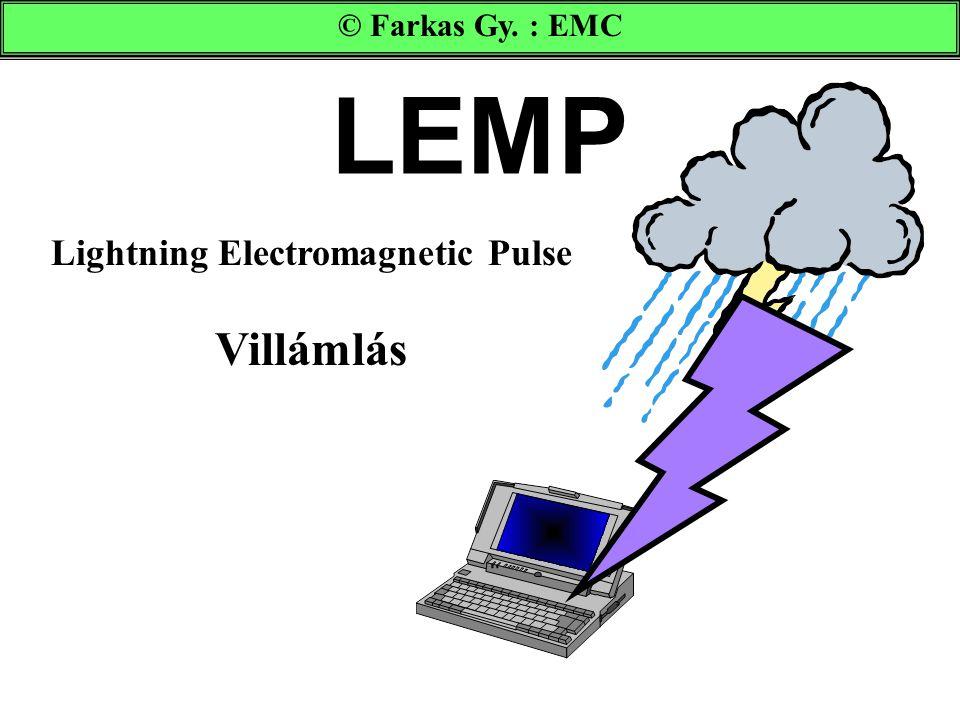 LEMP Lightning Electromagnetic Pulse Villámlás © Farkas Gy. : EMC