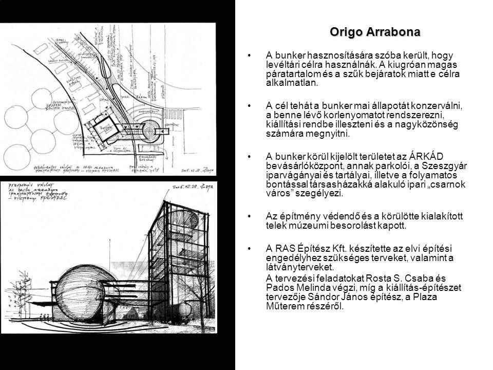 Origo Arrabona A bunker hasznosítására szóba került, hogy levéltári célra használnák. A kiugróan magas páratartalom és a szűk bejáratok miatt e célra