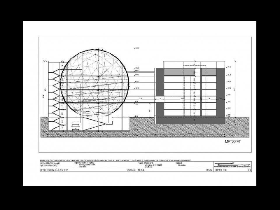 """MÁTRIX A meglévő bunkert és a fő attrakciót jelentő, a jövőt jelképező ORIGO-t összekötő hídszerű építményt nevezik MÁTRIX-nak """"új dimenziót nyit a múlt és a jövő között, amely a kor mindenkori színvonalát, a város ipari teljesítőképességét, lakóinak kreativitását egyszerre képes bemutatni"""