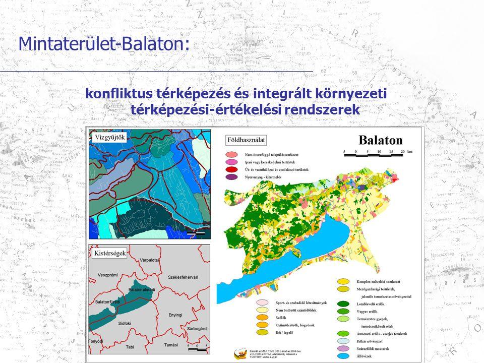 Mintaterület-Balaton: konfliktus térképezés és integrált környezeti térképezési-értékelési rendszerek