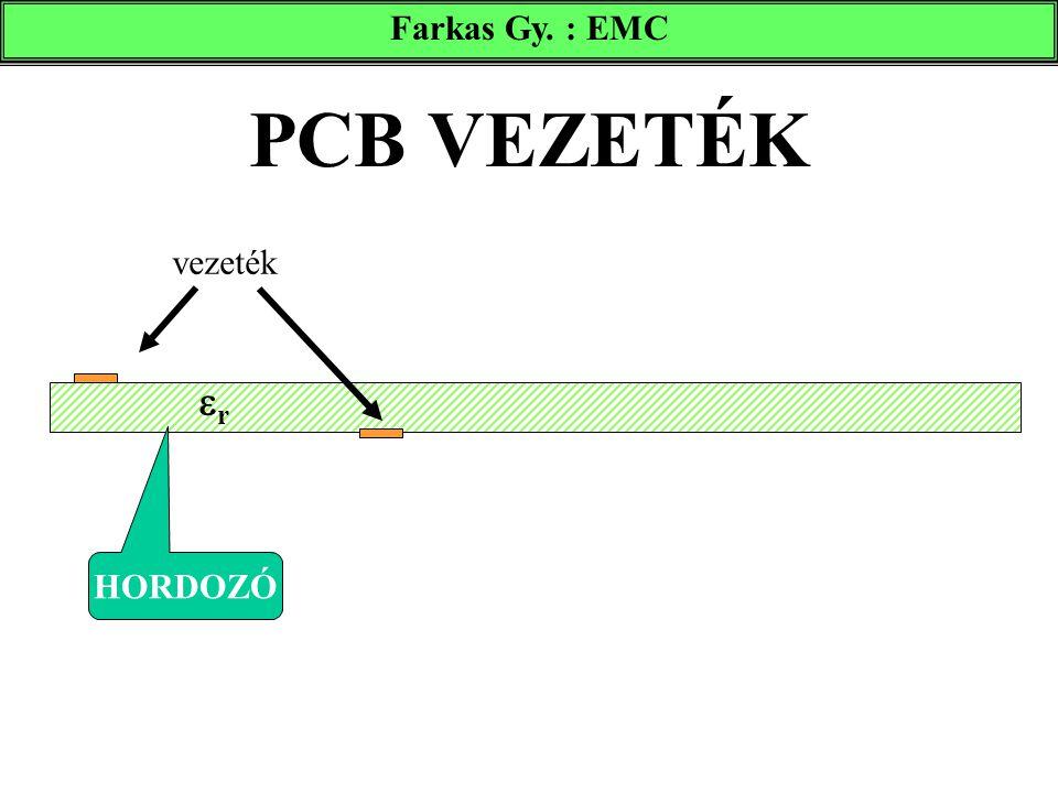PCB VEZETÉK vezeték HORDOZÓ rr Farkas Gy. : EMC
