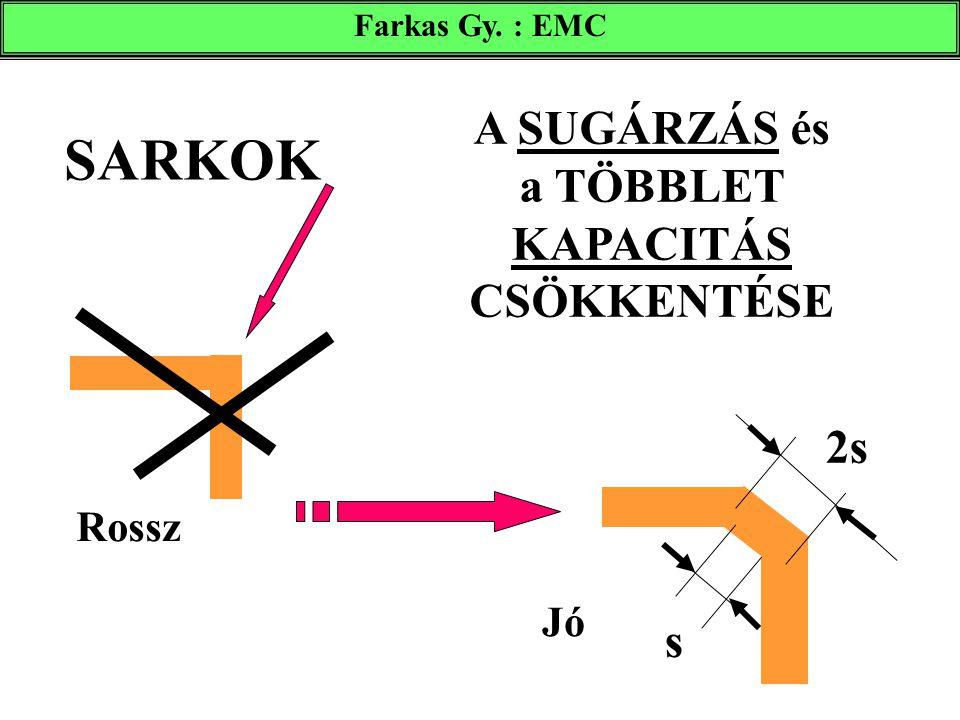 SARKOK Rossz s 2s Jó A SUGÁRZÁS és a TÖBBLET KAPACITÁS CSÖKKENTÉSE Farkas Gy. : EMC
