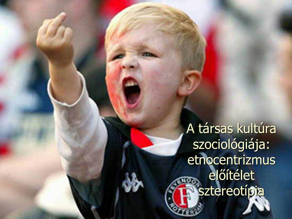 A társas kultúra szociológiája: etnocentrizmus előítéletsztereotípia
