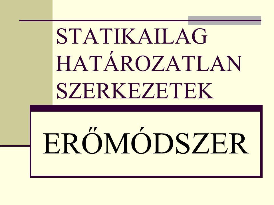 STATIKAILAG HATÁROZATLAN SZERKEZETEK ERŐMÓDSZER