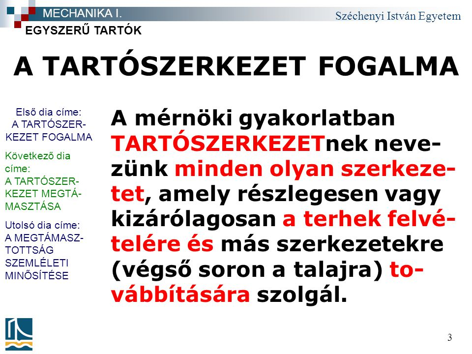 Széchenyi István Egyetem 44 Téma címe felsorolás 1.