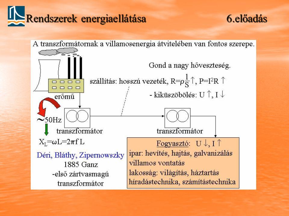 Rendszerek energiaellátása 6.előadás
