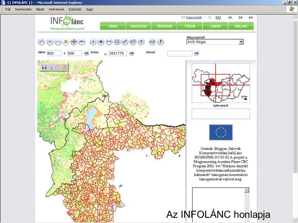 Széchenyi István Egyetem 29 Környezetvédelem Bevezető előadás Az INFOLÁNC honlapja