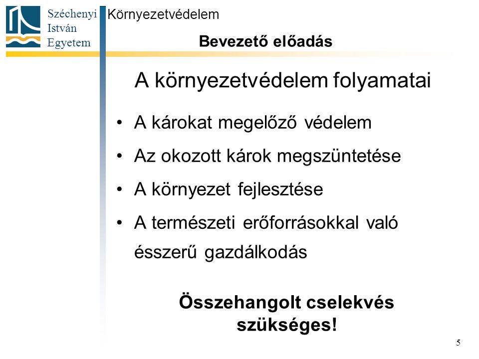 Széchenyi István Egyetem 26 Környezetvédelem Bevezető előadás Zöld pont a Széchenyi István Egyetemen