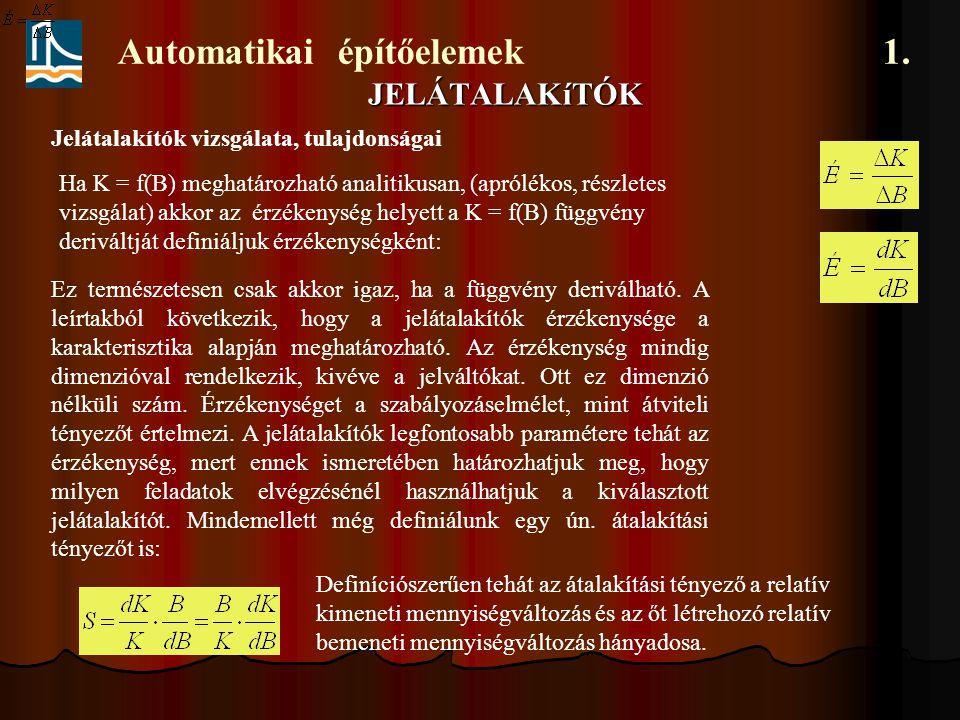 Automatikai építőelemek 1.