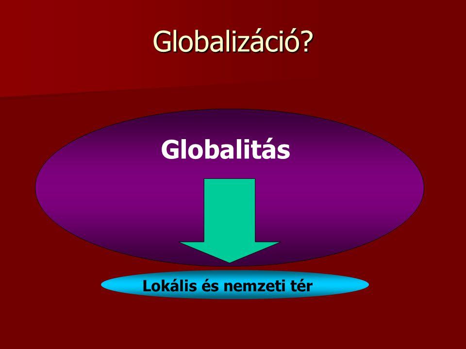 Globalizáció? Globalitás Lokális és nemzeti tér