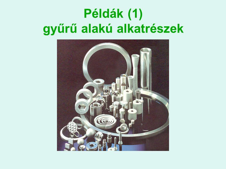 Példák (1) gyűrű alakú alkatrészek