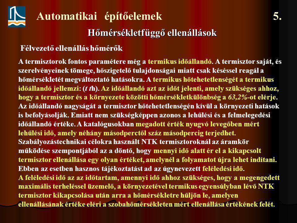 Automatikai építőelemek 5. Kapacitív jelátalakítók. Forgókondenzátor