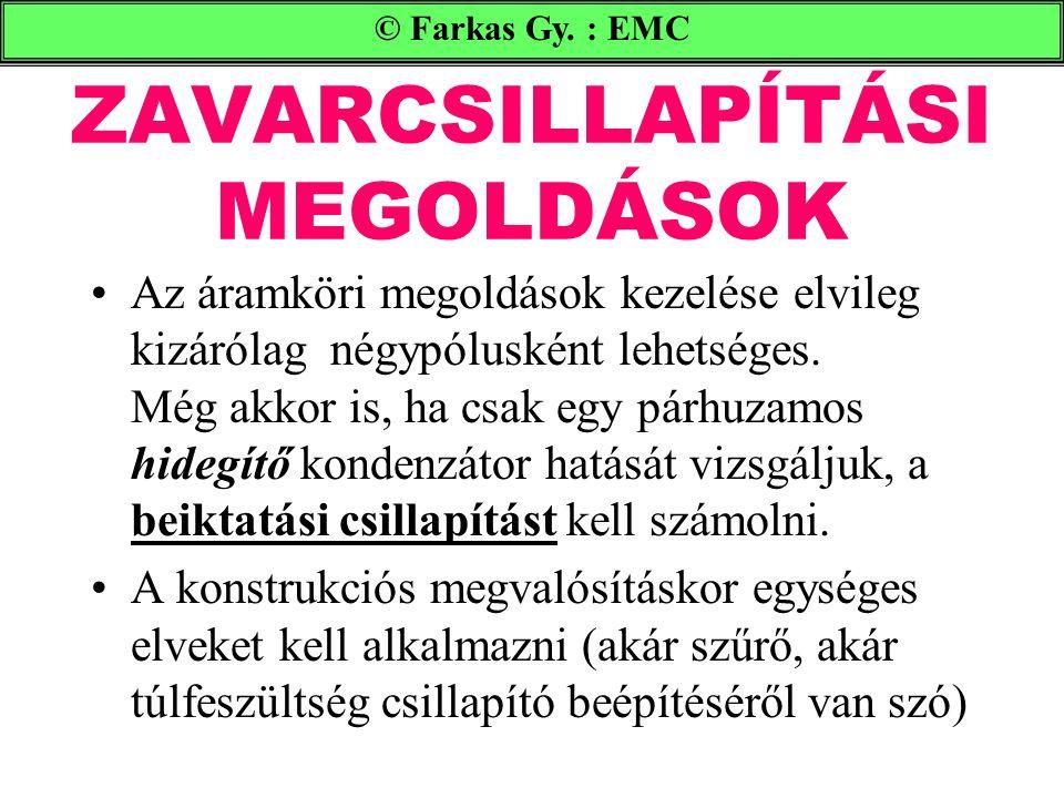 ZAVARCSILLAPÍTÁSI MEGOLDÁSOK © Farkas Gy.