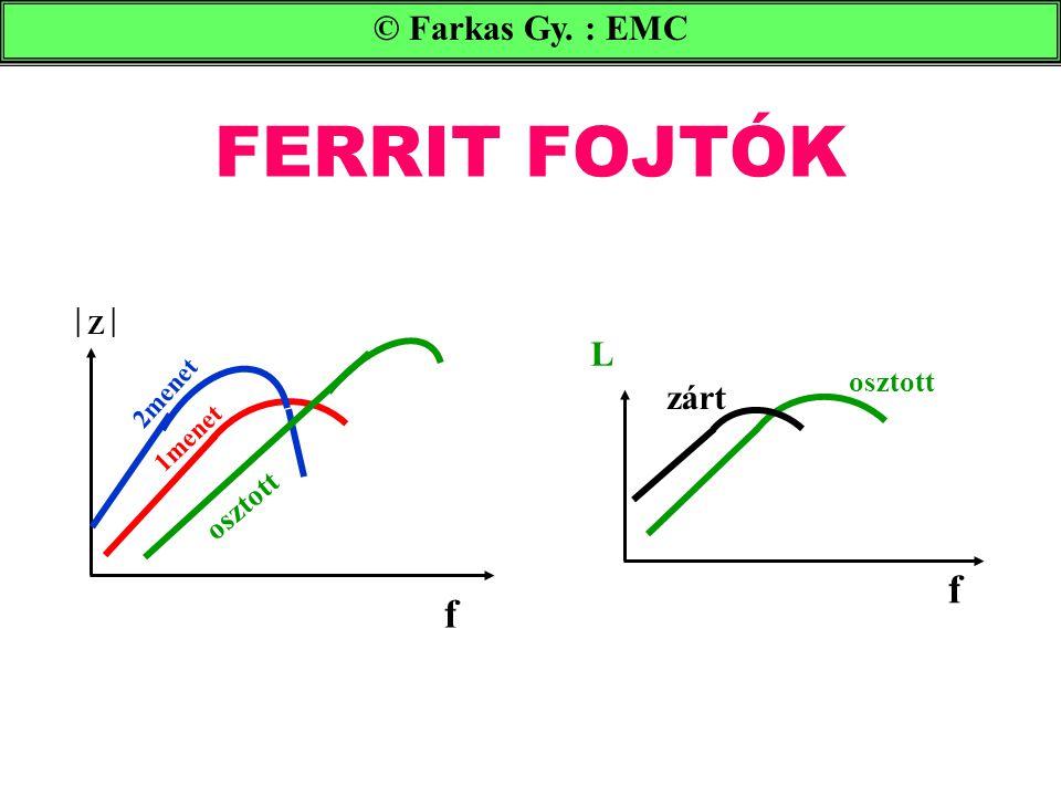 FERRIT FOJTÓK © Farkas Gy. : EMC ZZ f 1menet 2menet osztott f zárt L