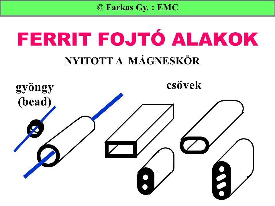 FERRIT FOJTÓ ALAKOK © Farkas Gy. : EMC gyöngy (bead) csövek NYITOTT A MÁGNESKÖR