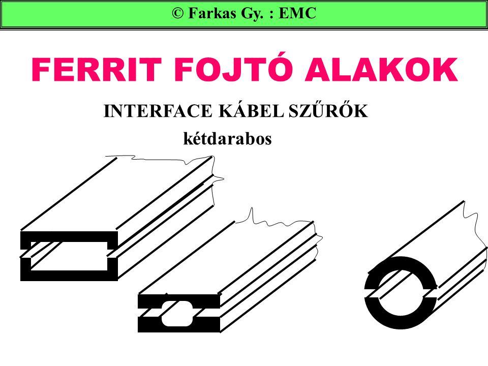 FERRIT FOJTÓ ALAKOK © Farkas Gy. : EMC kétdarabos INTERFACE KÁBEL SZŰRŐK