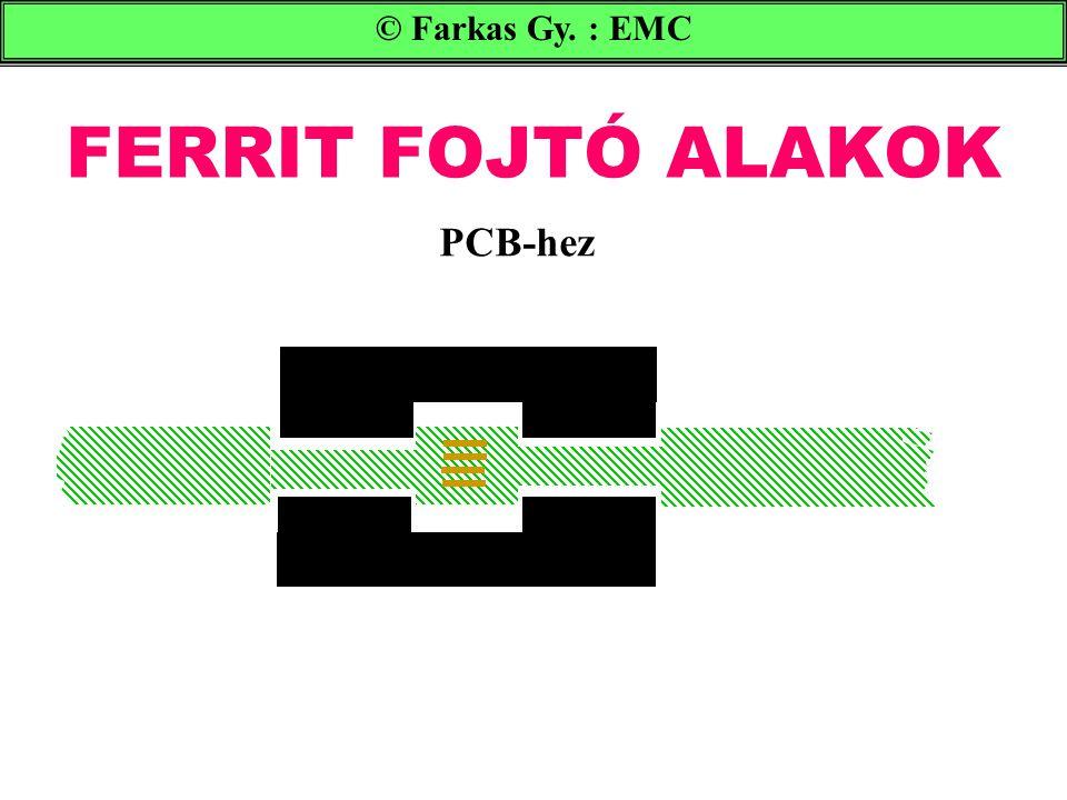 FERRIT FOJTÓ ALAKOK © Farkas Gy. : EMC PCB-hez
