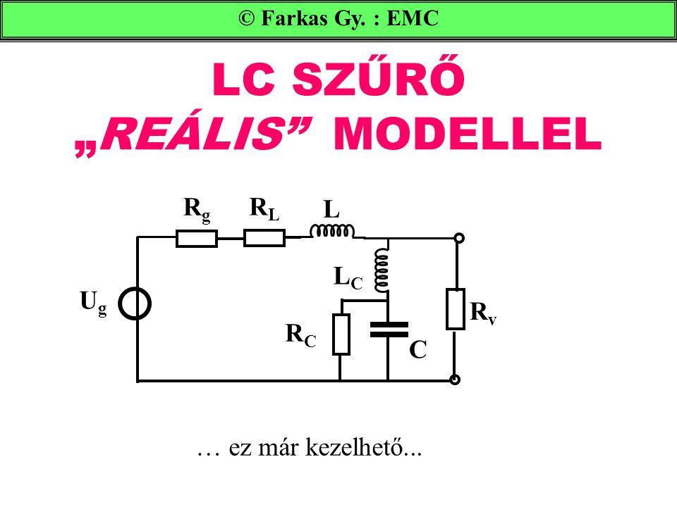 """LC SZŰRŐ """"REÁLIS MODELLEL © Farkas Gy.: EMC … ez már kezelhető..."""