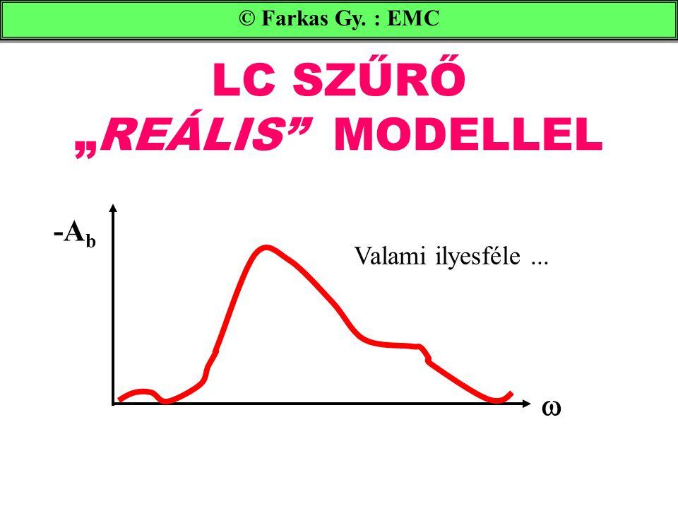 """LC SZŰRŐ """"REÁLIS MODELLEL © Farkas Gy. : EMC -A b  Valami ilyesféle..."""