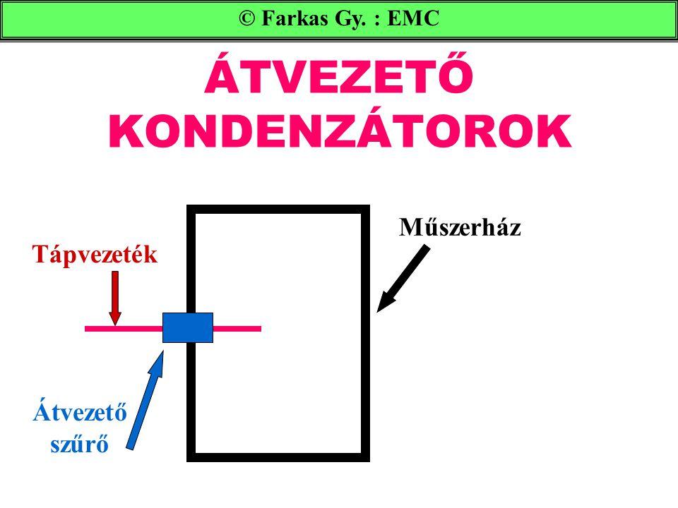 ÁTVEZETŐ KONDENZÁTOROK © Farkas Gy. : EMC Műszerház Tápvezeték Átvezető szűrő