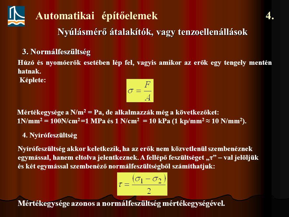 Automatikai építőelemek 4.3.