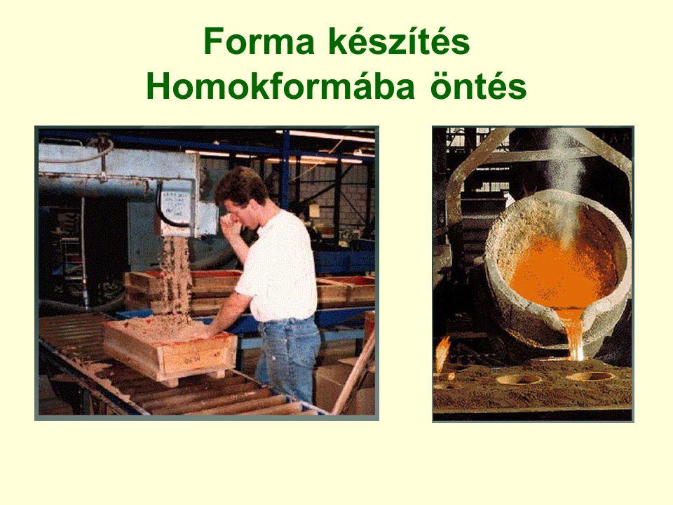Forma készítés Homokformába öntés