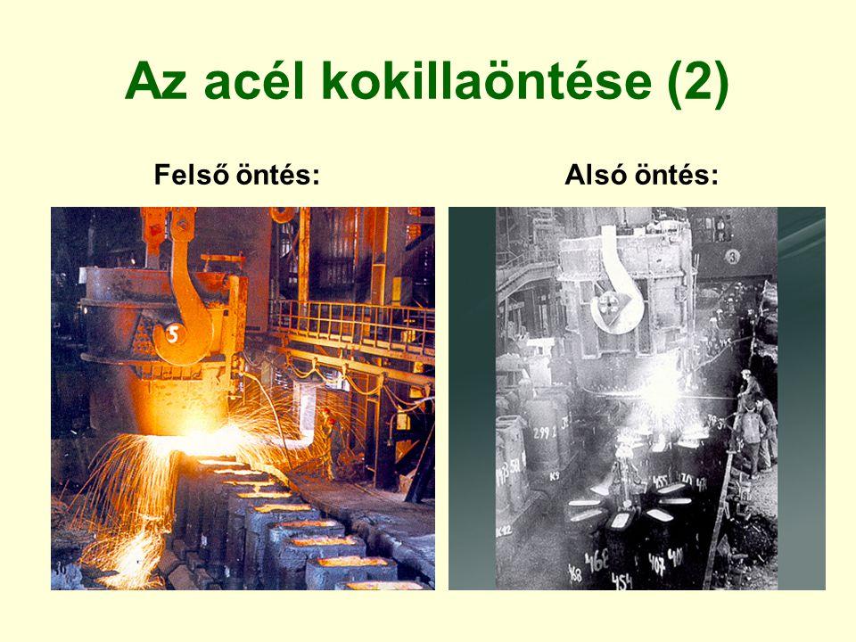 Gravitációs kokillaöntés A fém kokillát több részből, osztottan készítik Tápfejet az elvesző formába öntéshez hasonlóan alakítják ki A kokilla falában 0,2…0,3 mm-es furatok vannak a levegő eltávozására