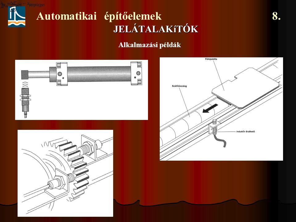 Automatikai építőelemek 8. JELÁTALAKíTÓK Alkalmazási példák