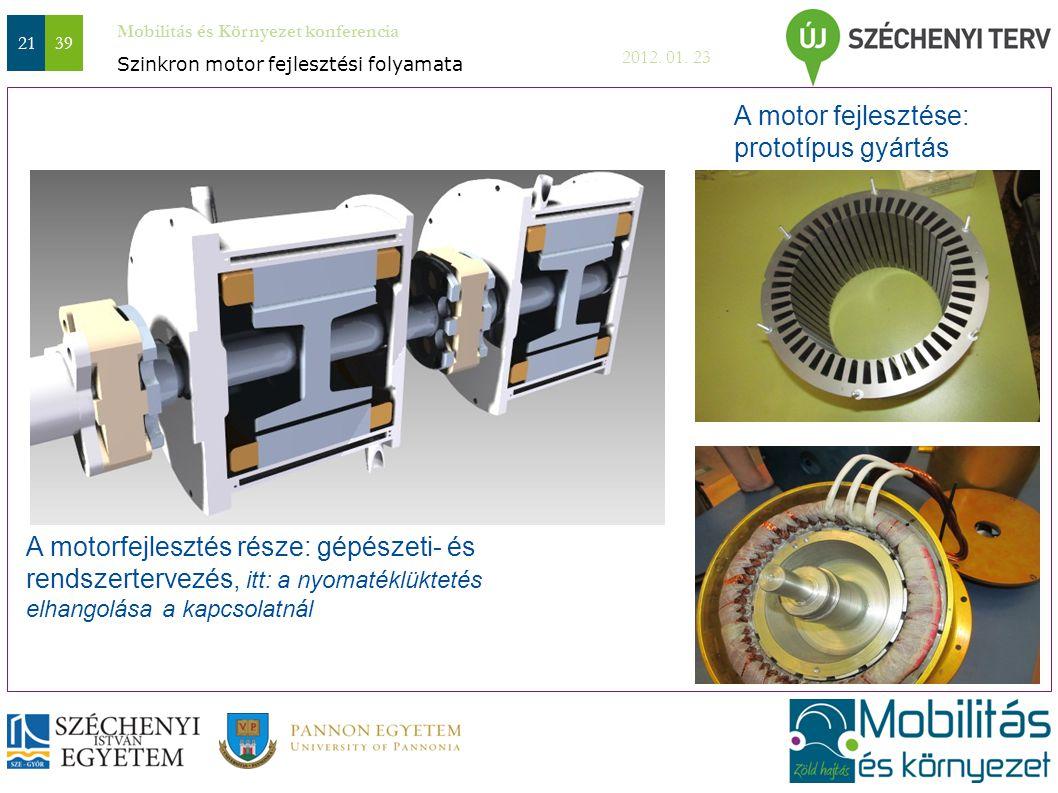 Mobilitás és Környezet konferencia 2012. 01. 23 2139 A motorfejlesztés része: gépészeti- és rendszertervezés, itt: a nyomatéklüktetés elhangolása a ka
