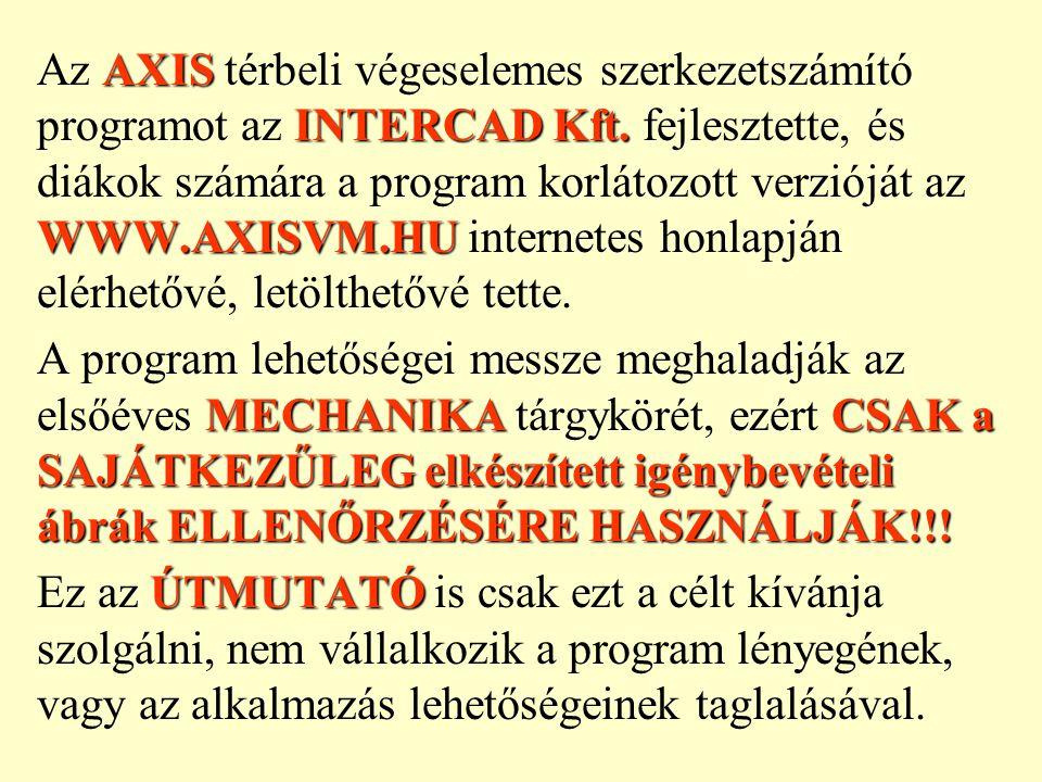 SÍKJÁNAKAz első lépés a tartószerkezet SÍKJÁNAK kiválasztása (legyen ez a program által felkínált Z-X sík).