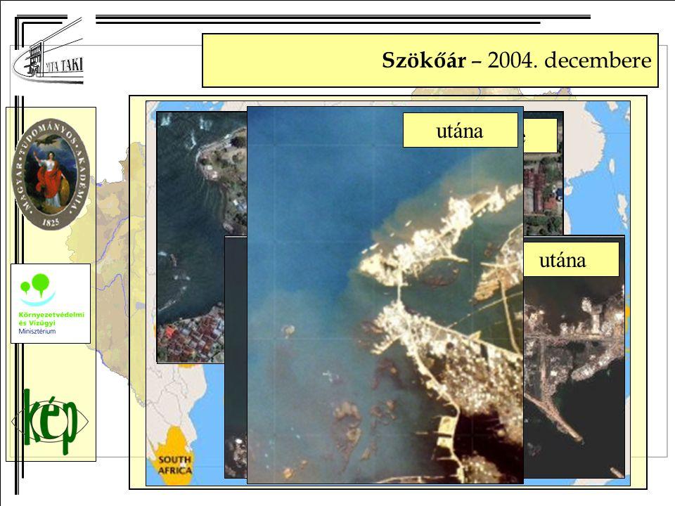 Szökőár – 2004. decembere előtte utána előtte utána előtteutána