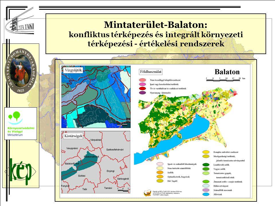 Mintaterület-Balaton: konfliktus térképezés és integrált környezeti térképezési - értékelési rendszerek