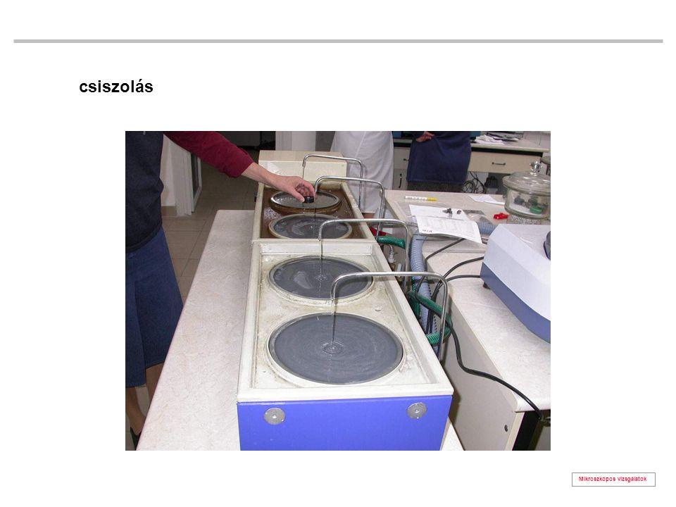 Mikroszkópos vizsgálatok grafit (x100) (gömbgrafitos szürkeöntvényben) (maratlan csiszolat)