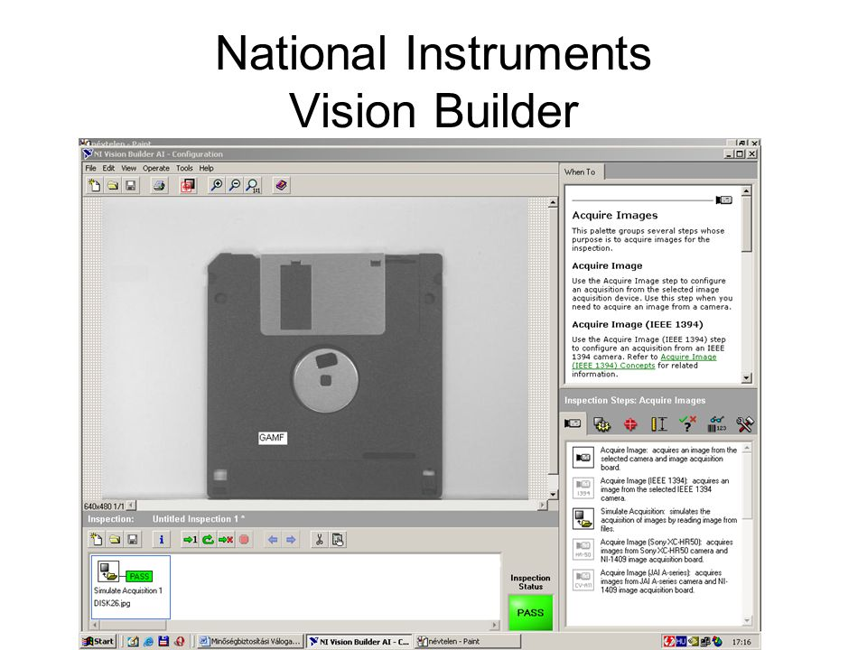 National Instruments Vision Builder
