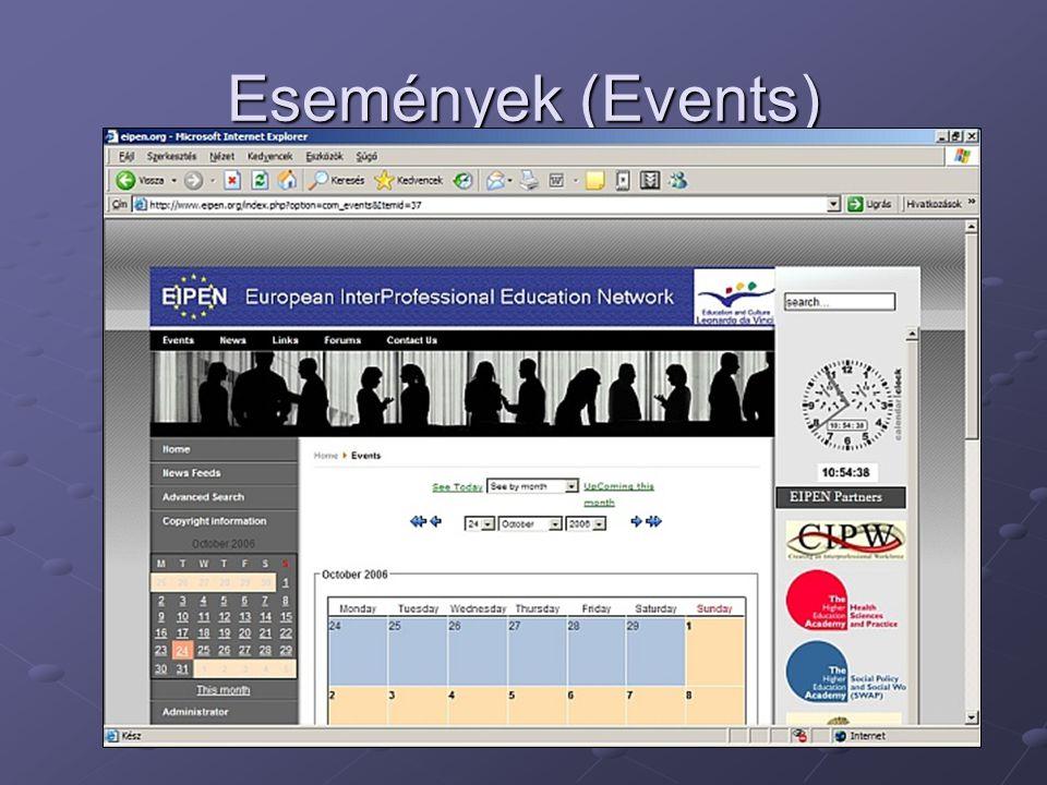 Események (Events)