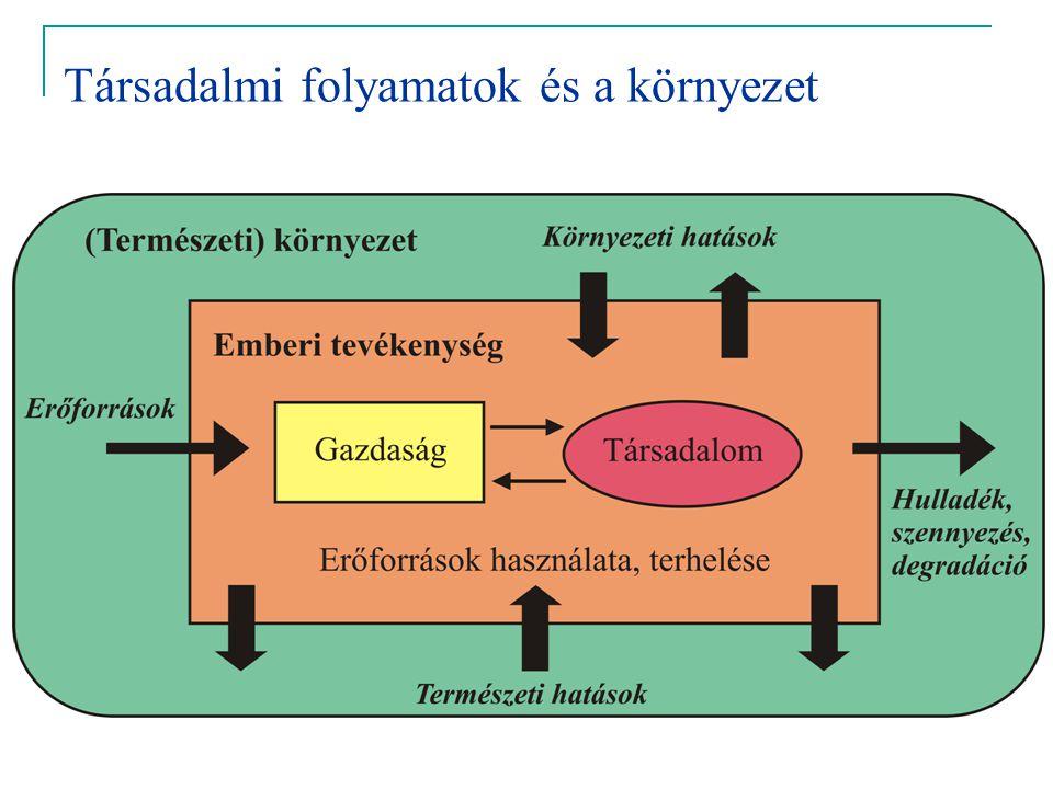 Az indikátorfejlesztés rendszere: hatás – állapot – válasz DRSIR,OECD, EEA, WRI alapján
