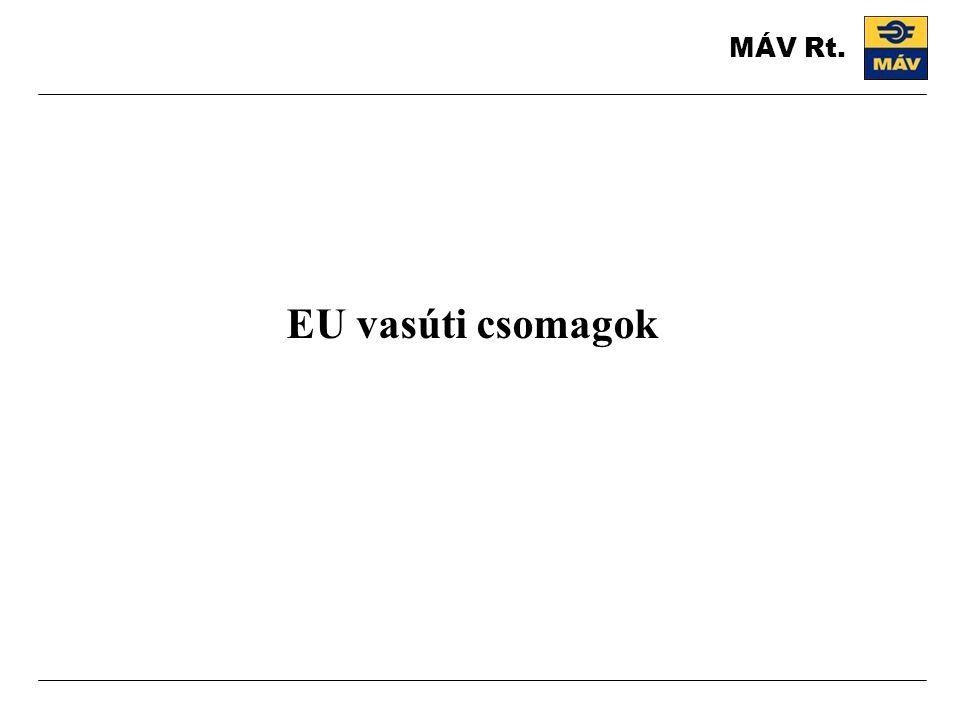 EU vasúti csomagok MÁV Rt.