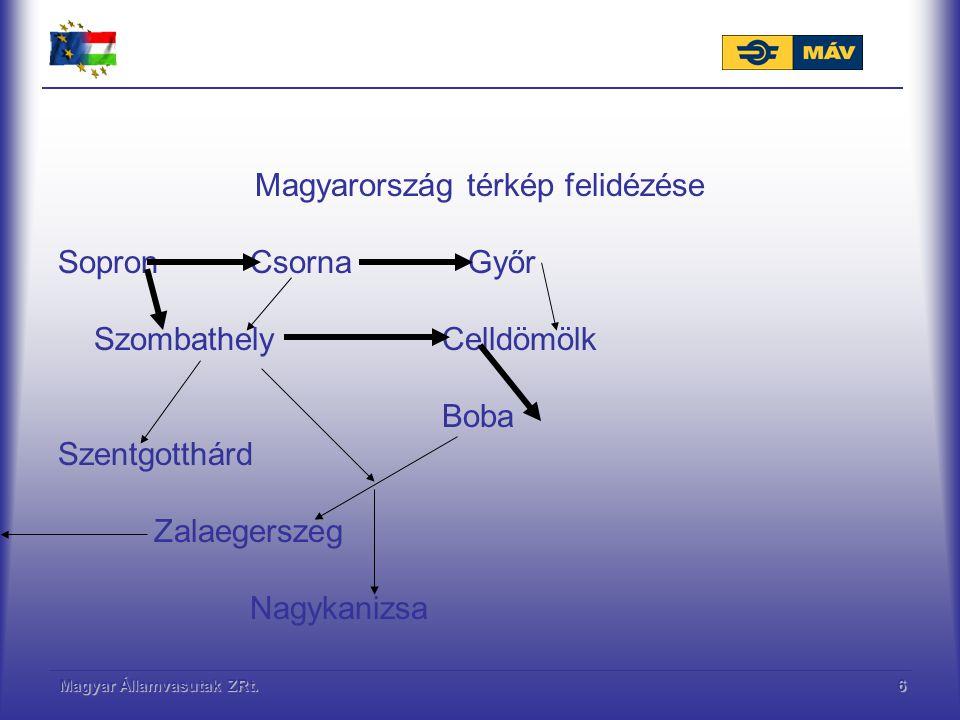 Magyar Államvasutak ZRt.7 Gyakorlati példa A 10.vagy a 16.