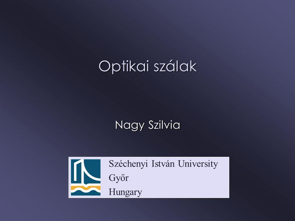 Széchenyi István University Győr Hungary Optikai szálak Nagy Szilvia