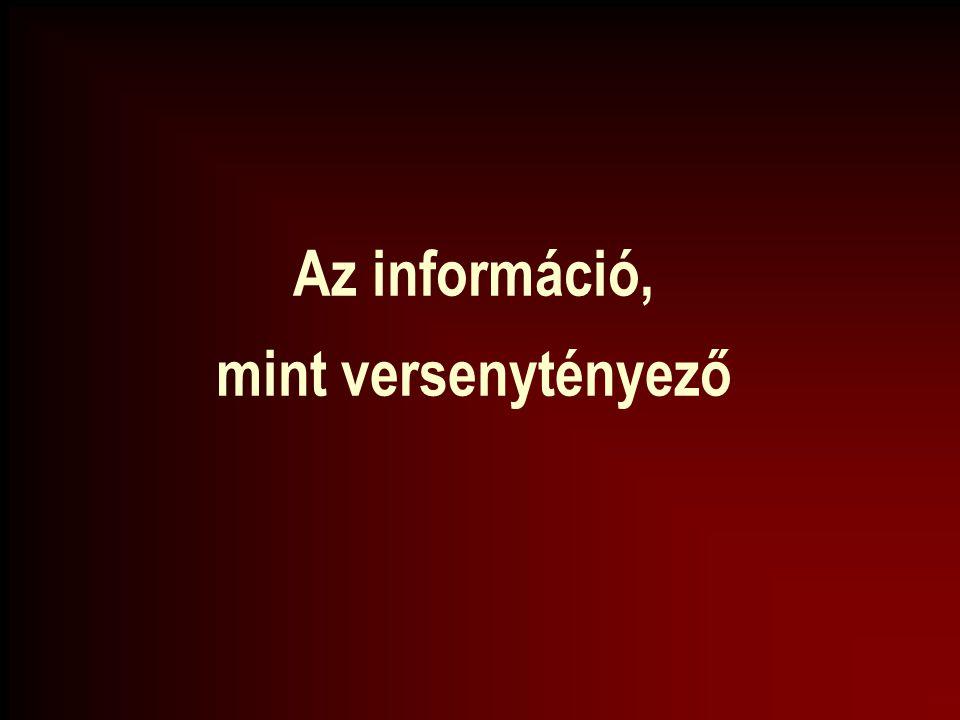 Az információ, mint versenytényező