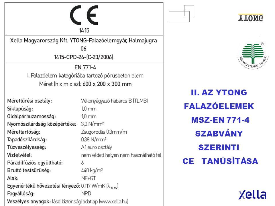 XELLA MAGYARORSZÁG Kft.· 25. oldal HŐTECHNIKAI RENDELETNEK MEGFELELŐ KÜLSŐ FALAK - 2006.