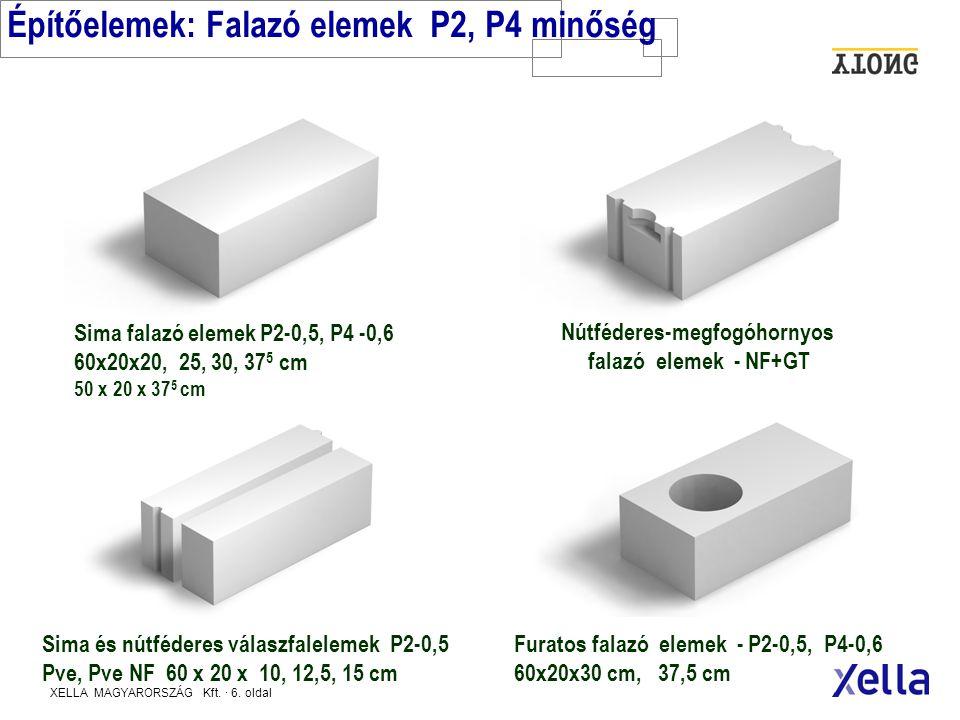XELLA MAGYARORSZÁG Kft.· 26. oldal HŐTECHNIKAI RENDELETNEK MEGFELELŐ KÜLSŐ FALAK - 2006.