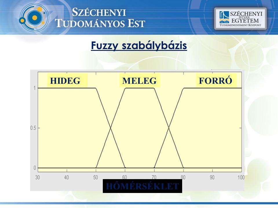 Fuzzy szabálybázis HIDEGMELEGFORRÓ HŐMÉRSÉKLET