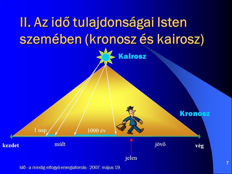 Idő - a mindig elfogyó energiaforrás - 2007. május 19.