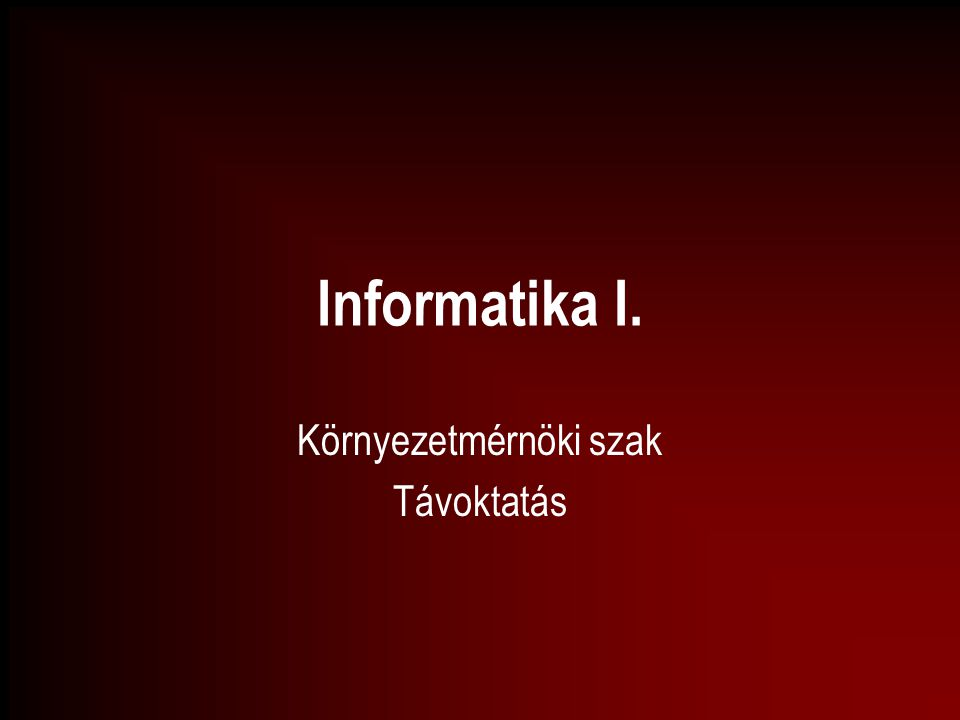 A számítógéppel támogatott információ- feldolgozó rendszer összetevői - 1.